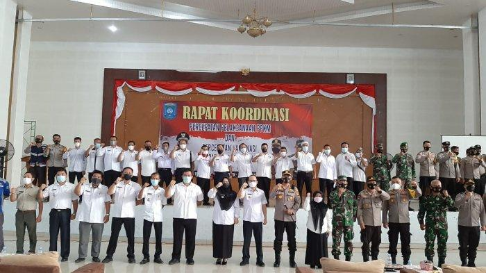 Pemkab Bangka Tengah, TNI dan Polri  Rapat Koordinasi Pencegahan Covid-19