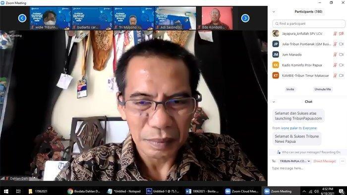 CEO Tribun Network Dahlan Dahi Terharu Saat Luncurkan Tribun-Papua.com, Puji Wartawan Papua Kredibel
