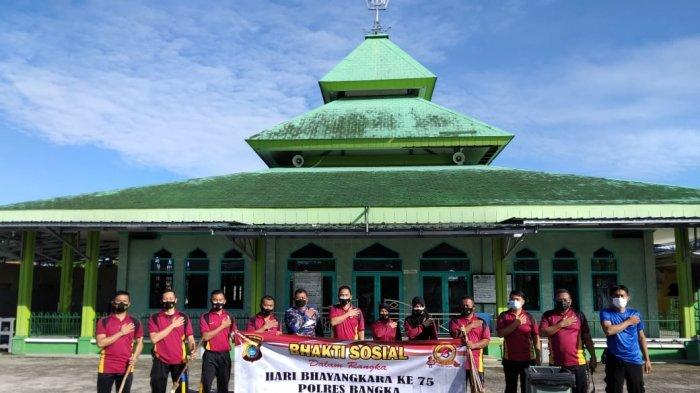 Polres Bangka Bersih Tempat Ibadah