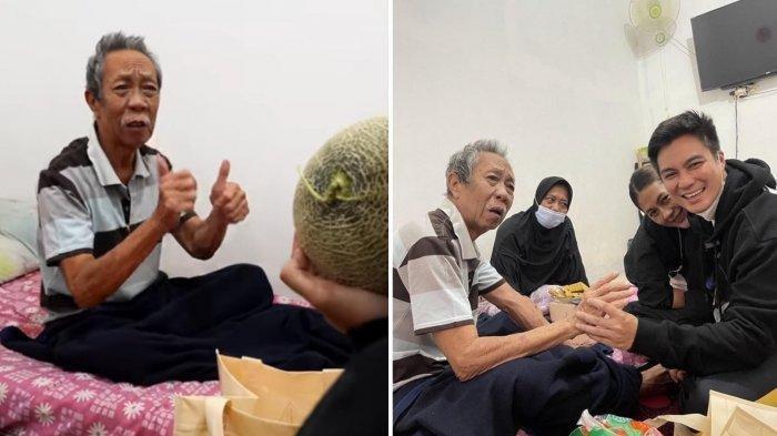 Baim Wong dan Paula Verhoeven menjenguk Pak Ogah yang sedang sakit