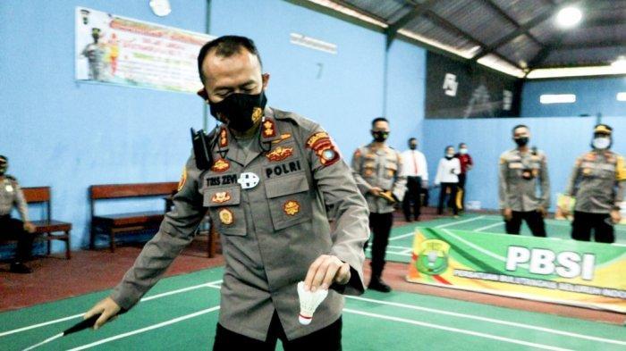 Meriahkan HUT ke-75 Bhayangkara, Polres Pangkalpinang Gelar Kompetisi Badminton, Tetap Taati Prokes