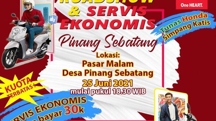 Meriahkan Pasar Malam Desa Pinang Sebatang, Honda TDM Simpang Katis Gelar Roadshow & Servis Ekonomis