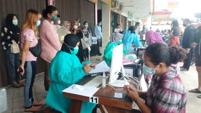 Gelar Vaksinasi Massal Gratis di Pasar Higienis, Puskesmas Selindung Siapkan 190 Dosis Vaksin
