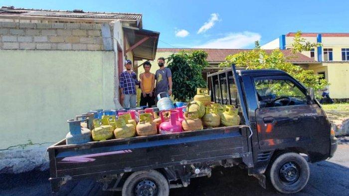 Polisi Bongkar Pengoplosan Gas di Pangkalpinang, Pelaku Pindahkan Isi Gas Melon ke Tabung 12 Kg