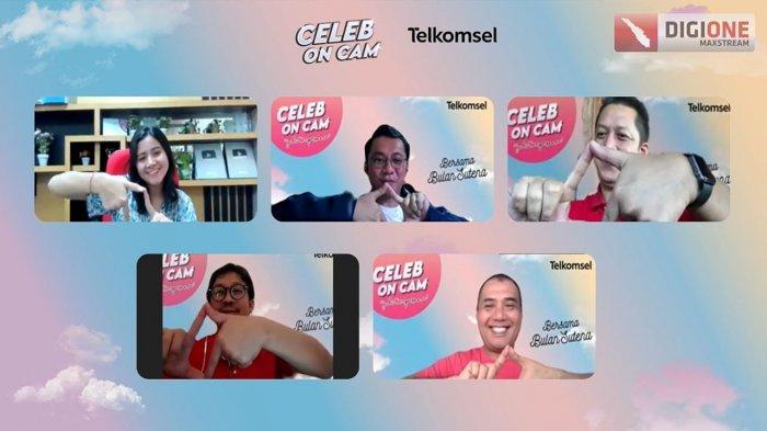 Hadir di Telkomsel Celeb On Cam, Tiktokers Cantik Bulan Sutena Hibur Jurnalis Sumatera