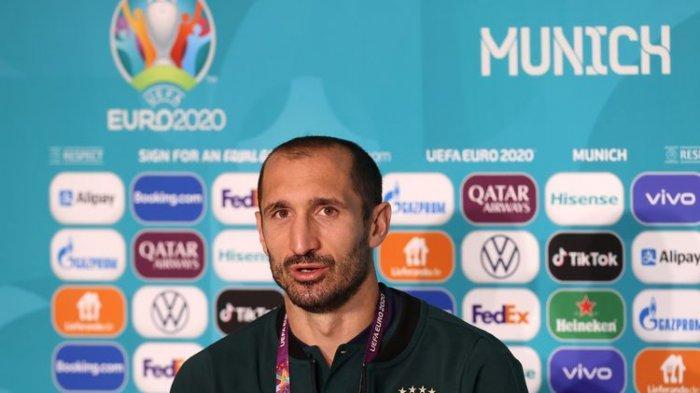 Berita Final EURO Italia Vs Inggris, Chiellini Ungkap Persiapannya Melawan Harry Kane
