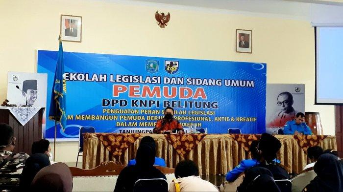 Ketua DPRD Bangka Belitung Titip Ilmu Seputaran Legislatif ke Pemuda DPD KNPI Belitung