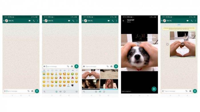 Cara menghapus GIF WhatsApp di obrolan atau chat. (Ilustrasi Foto: Tangkapan Layar Aplikasi WhatsApp)