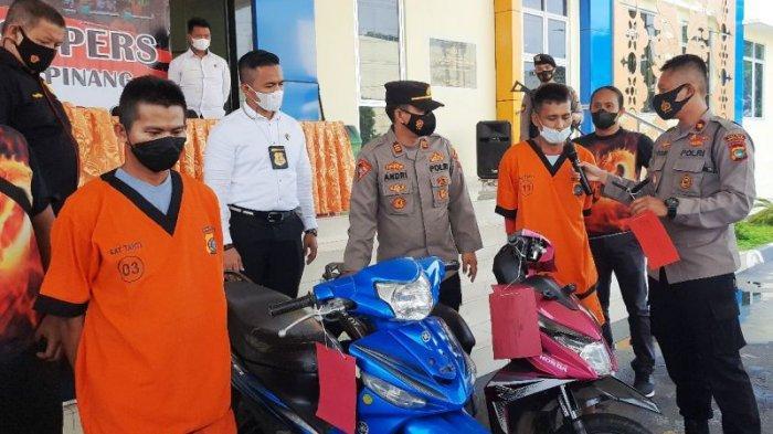 Dua Residivis Jalan Kaki Keliling Pangkalpinang Cari Sepeda Motor yang Bisa Dicuri