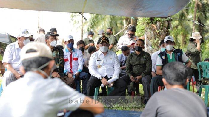 Kunjungi Kelompok Tani, Gubernur Bangka Belitung Beri Solusi