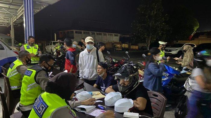 Satlantas Polres Pangkalpinang Jaring 35 Pengendara Tak Gunakan Helm dalam Operasi KRYD