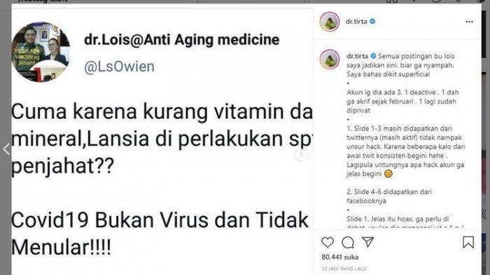 Pernyataan dr Lois Owien Soal Covid-19 Jadi Viral, Majelis Etik IDI Akan Panggil Si Dokter