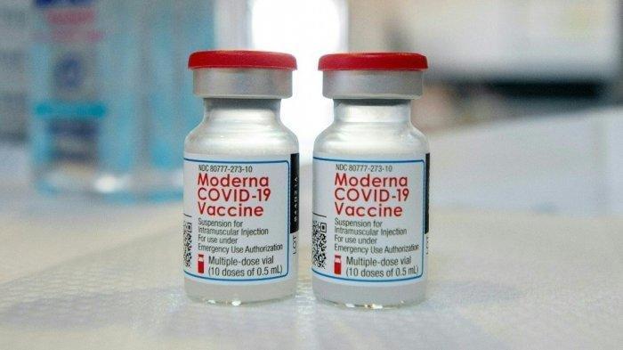 Ilustrasi vaksin Covid-19 Moderna.
