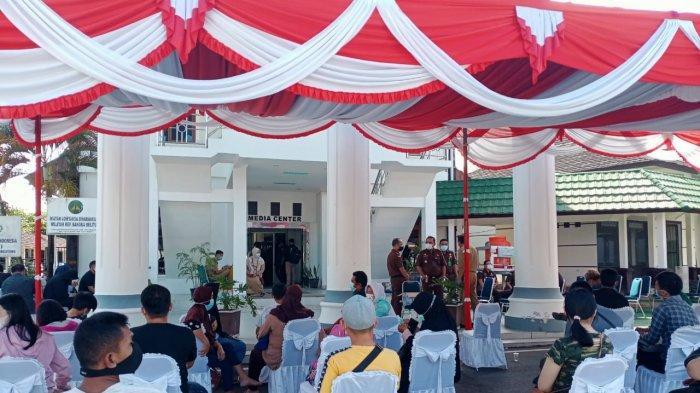 Vaksinasi Massal HUT Adhyaksa dan Ikatan Adhyaksa Dharmakarini di Kantor Kejati Babel Diserbu Warga