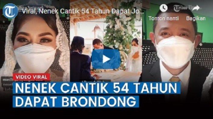 Viral di Tiktok, Video Nenek Cantik Berusia 54 Tahun Menikahi Berondong, Kenal Lewat Aplikasi Ini