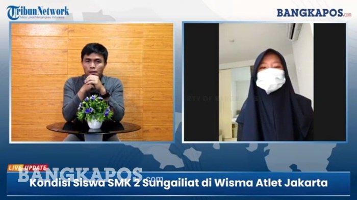 Miranda, Siswi SMKN 2 Sungailiat Menangis Saat Jalani Isolasi Mandiri di Wisma Atlet Jakarta