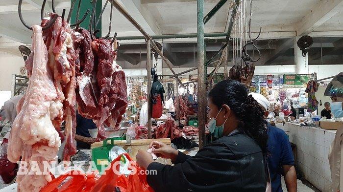 Jelang Idul Adha 2021, Harga Daging Sapi dan Ayam di Pasar Modern Koba Masih Stabil