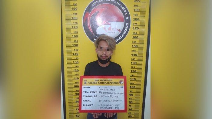 Tim Kalong Satresnarkoba Polres Pangkalpinang Bekuk Kurir Narkoba, Amankan Sejumlah Barang Bukti