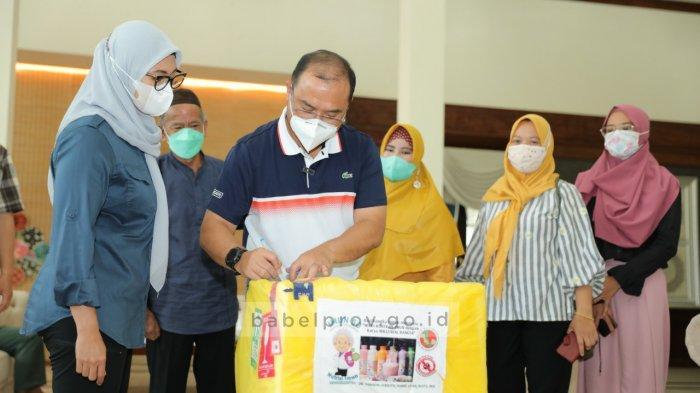 Gubernur Bangka Belitung Terima 1000 Botol Susu Peningkat Imunitas Karya Anak Negeri