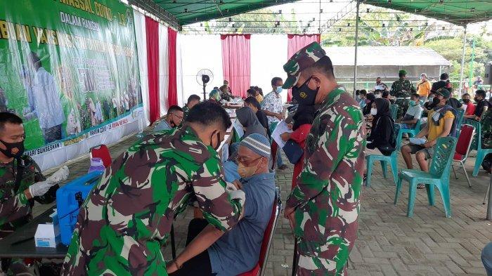 Dua Minggu Cari Vaksin di Puskesmas Pangkalpinang, Sudarmono Bersyukur Bisa Vaksin di Kodim 0413