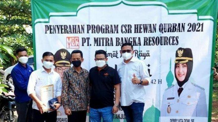 PT. Mitra Bangka Resources (MBR) turut berpartisipasi dalam kegiatan Qurban Hari Raya Idul Adha 1442 Hijriah, Jum'at (16/07/2021).