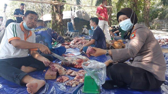 Polres Bangka Sembelih 9 Sapi 9 Kambing, AKBP Widi Haryawan: Semoga Bermanfaat Bagi Masyarakat