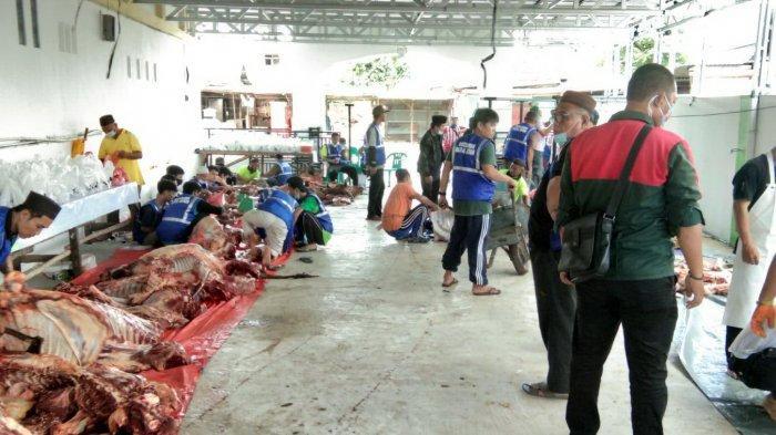 Masjid Al Mustaqim Lakukan Penyembelihan Hewan Kurban, Terapkan Protokol Kesehatan