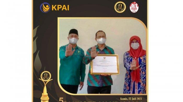 Pemkab Bangka Tengah Raih Penghargaan KPAI 2021, Algafry Prioritaskan Pelayanan Perlindungan Anak