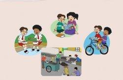 Ilustrasi Hidup Rukun dengan Teman, Keluarga, dan Masyarakat
