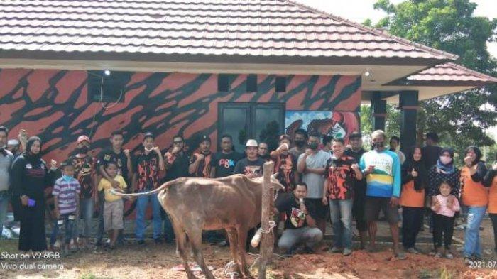 Eratkan Silaturahmi, MPC PP Kota Pangkalpinang Sembelih Satu Sapi Kurban