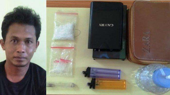 Satres Narkoba Polres Bangka Selatan Amankan Sabu 6,40 Gram Sekaligus Tangkap Pengedar