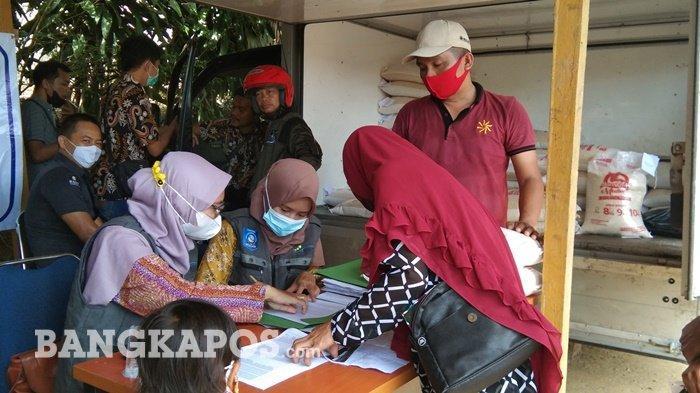 Bulog Cabang Bangka, Salurkan Bantuan Beras PPKM ke 53 Ribu KPM