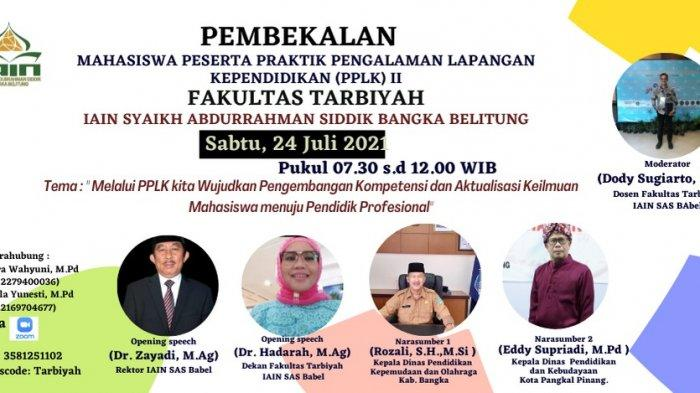 Fakultas Tarbiyah Adakan Pembekalan PPLK II 408 Mahaiswa Secara Daring