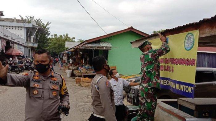 PPKM Level 4 Kabupaten Bangka Barat, Camat Dirikan Pos Pemantauan di Pasar Muntok
