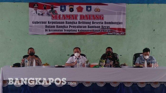 Kabupaten Bangka Barat Terapkan PPKM Level 4, Gubernur Provinsi Bangka Belitung Salurkan Bantuan