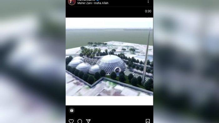 Tangkapan layar postingan Reels di Instagram Ridwan Kamil.