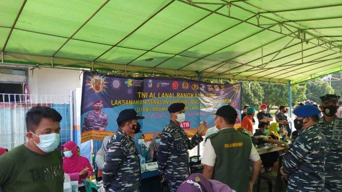 Gubernur Beri Apresiasi, TNI AL Lanal Babel Lakukan Serbuan Vaksin Untuk Masyarakat Maritim