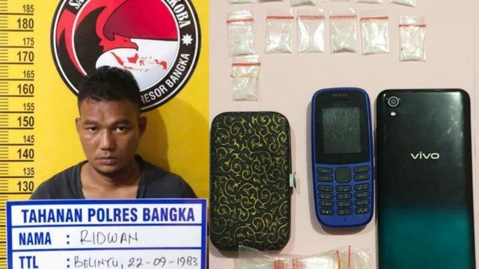 Tim Gradak Polres Bangka Bekuk Penyuplai Sabu ke Penambang, Amankan 13 Paket Narkoba