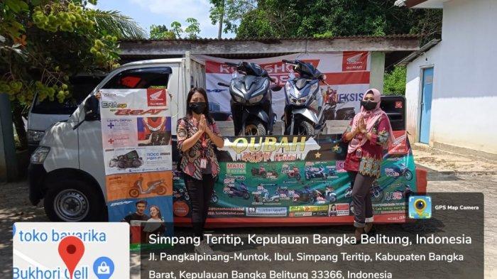 Dealer Honda PT. Asia Surya Perkasa (ASP) cabang Muntok mengadakan Roadshow satu hati bersama warga Desa Ibul