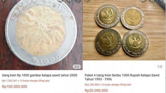 Uang Koin 1000 Tahun 1993 Dijual Mahal