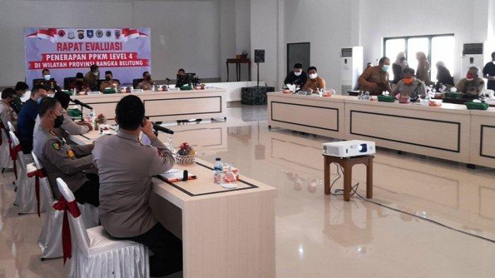 Gelar Rakor Bersama Kepala Daerah, Gubernur Erzaldi Sampaikan Kebijakan Isoter Mulai Diberlakukan