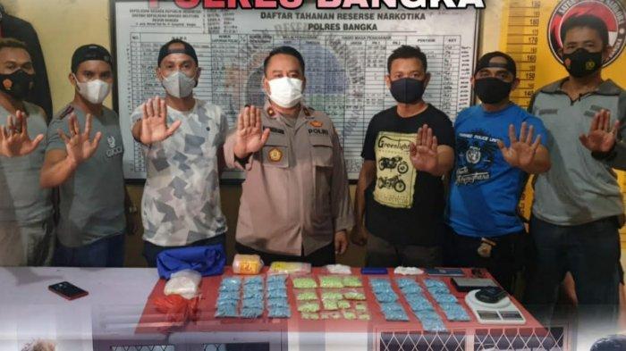 Hari Ini Press Release Pengungkapan Bandar Narkotika Asal Sungailiat, BB 4.269 Butir Ekstasi