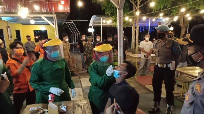 Tempat Tongkrongan di Koba Dilakukan Pemeriksaan Rapid Antigen Massal, Pengunjung Kabur