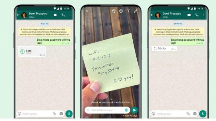 Fitur Terbaru Whatsapp, Begini Cara Kirim Foto dan Video Sekali Lihat