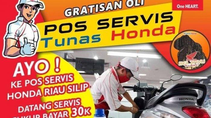 Diperpanjang, Gratisan Oli Tunas Honda Riau Silip Masih Ada