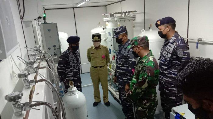 Kasal Kirim KRI Semarang 594 Fasilitasi Kekurangan Supply Oksigen di Pulau Belitung
