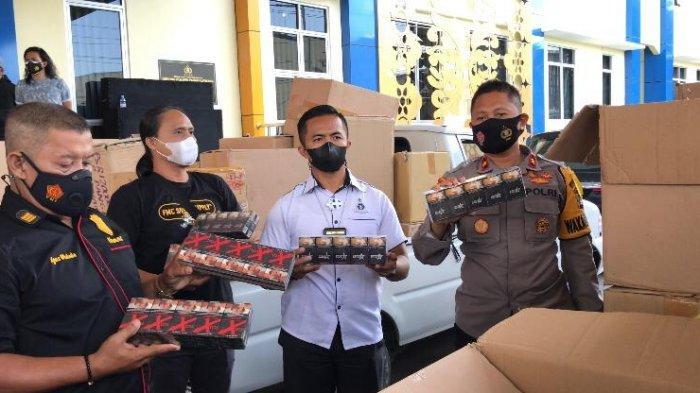 Polisi Sita 124 Kardus Berisi Rokok Ilegal Senilai Rp1 Miliar