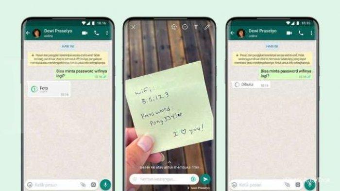 Kegunaan View Once Fitur Baru Whatsapp Bisa Kirim Foto dan Video Sekali Lihat