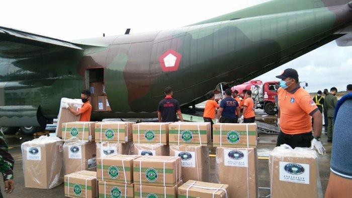 Diangkut Pakai Hercules, Bangka Belitung Dapat Bantuan Konsentrator Oksigen Hingga Obat-obatan