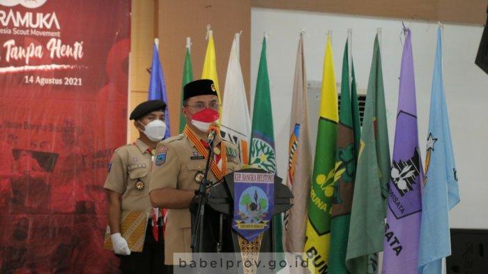 Gubernur Erzadi Pimpin Apel Besar Hari Pramuka ke-60 Tahun 2021